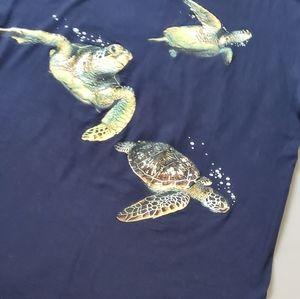 Vintage | Sea Turtles Double Sided Single Stitch